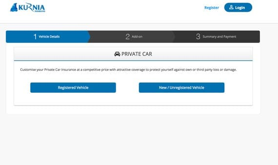 kurnia online car insurance renewal