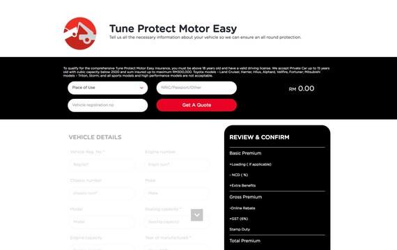tune online car insurance renewal